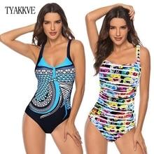 Push Up Women Swimwear Plus Size One Piece Swimsuit V Neck Beach Wear 2020 Bodysuit Swimming Suit Vintage Sport Bathing Suit 3XL