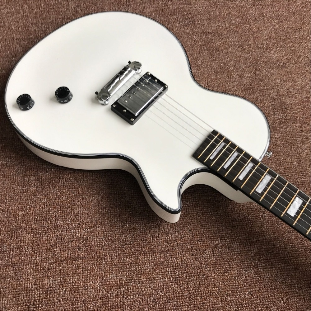 custom shop.white color electric guitar.custom gitaar.1 pickup handwork 6 Strings guitarra.mahogany body.Ebony fingerboard enlarge