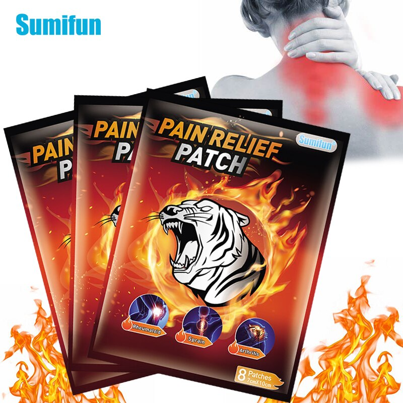 24pcs Sumifun Tiger Balm Pain Relief Patch Fast Relief Aches Pains Inflammations Lumbar Spine Medical Plaster Health Care D6548