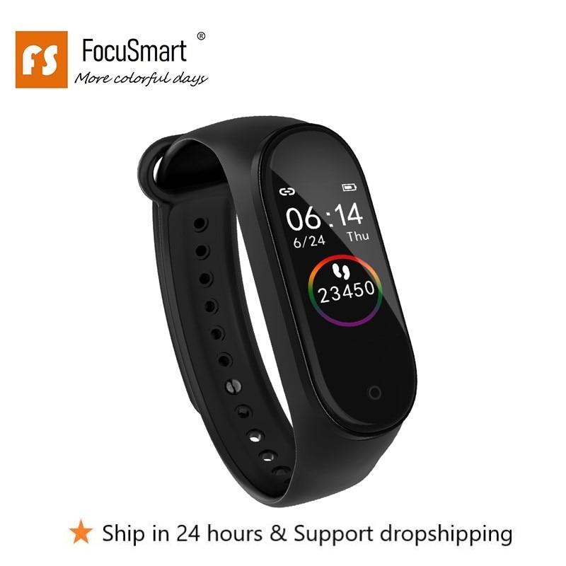 Смарт-браслет FocuSmart, M4s, ТПУ, фитнес-трекер, ЭКГ HRV, пульсометр, кровяное давление, умный Браслет для IOS/Android