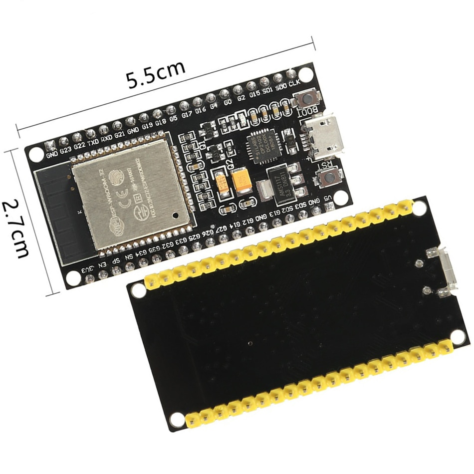 Placa de desarrollo ESP32 ESP-32 inalámbrico WiFi Bluetooth de doble núcleo CP2104 filtros módulo de alimentación 2,4 GHz RF para Arduino Nodemcu