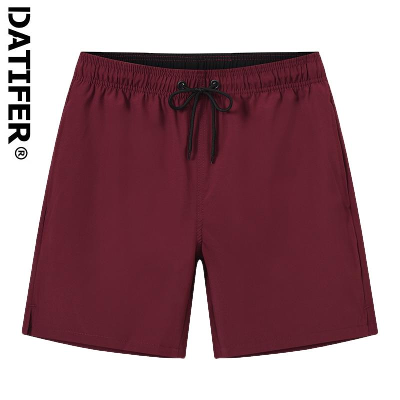 Datifer Quick-Drying Men's Beachwear Plus Size Swimsuit Men Printing Bathing Suit Male Elastic Waist Athletic Running Gym Shorts