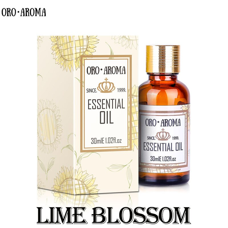 Famous brand oroaroma natural Lime blossom essential oil skin is more compact liver conditioning Lime blossom oil