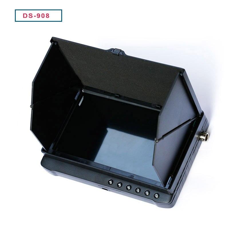 شاشة اختبار CCTV صغيرة مقاس 7 بوصات متوافقة مع AHD/TVI/CVI/CVBS ، إشارة مع بطارية ليثيوم 7500 مللي أمبير