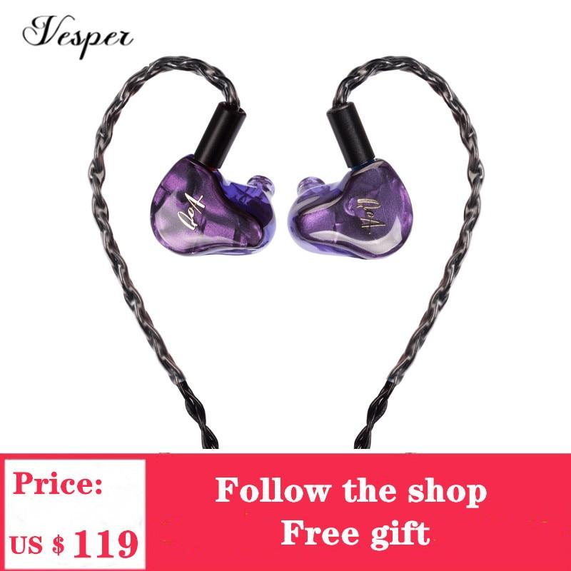 QOA Original Dama Rosa 2BA + 1DD conductor híbrido auriculares HIFI DJ Monitor Auriculares auriculares con 2Pin Cable desmontable