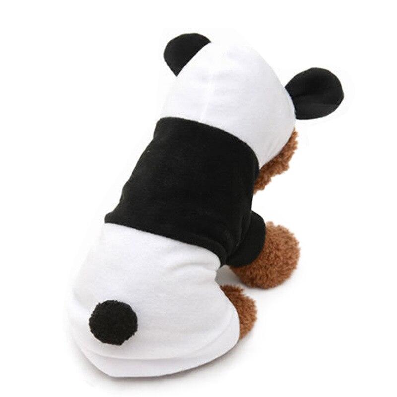 Fleece Panda Shape Pet Coat for Puppy Dog Clothes Pullover Cartoon Cute Cosplay Costume Outwear Pet Coat Autumn Winter 1PC