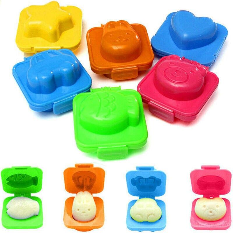 6Pcs Gekochtes Ei Sushi Reis Mold Bento Maker Sandwich Cutter Küche Tools Gadget Sushi Werkzeuge