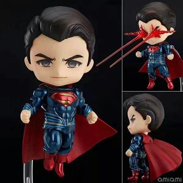 Anime Cute Super Man in Batman v Superman  Dawn of Justice 10cm Action Figure Toys