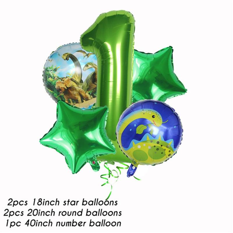 Купить с кэшбэком Dinosaur Themed Party Supplies for Kids Boys Birthdays Decoration Plates Cups Roaring Dino Party Balloon stand Baby Shower decor