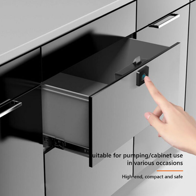 Smart Fingerprint Lock Anti-theft Electronic File Storage Cabinet Keyless For Furniture Drawer Box Home Office smart spaces storage at home