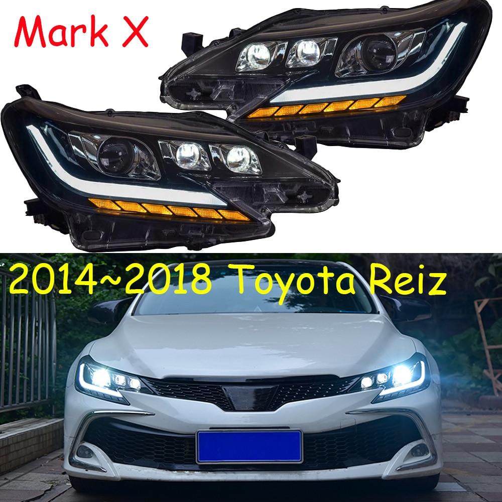 Faro delantero para Toyota Reiz, faro delantero para coche de 2014 ~ 2017y, accesorios para coche, faro LED DRL HID de xenón para Mark X Reiz