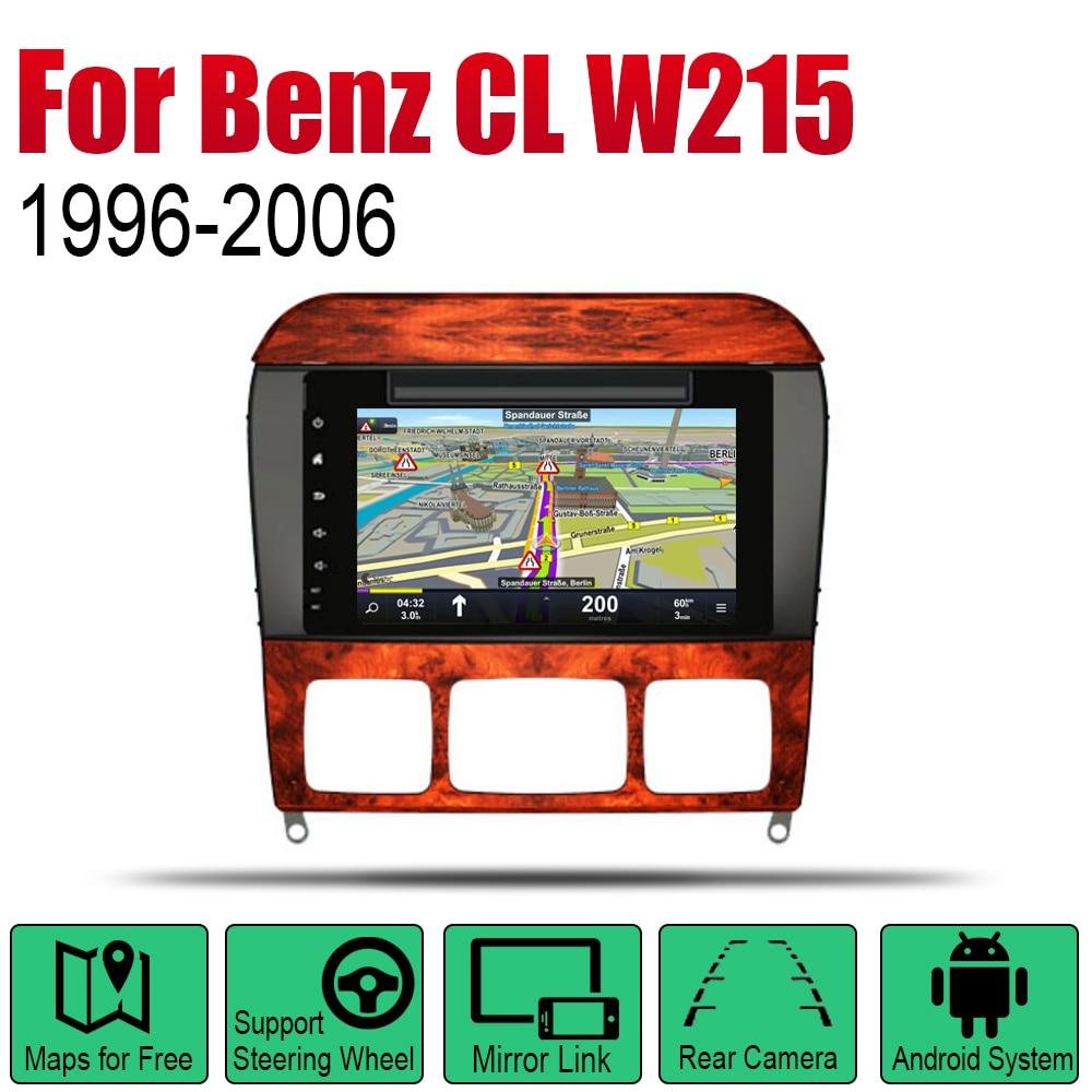 Android 2 Din Auto Radio DVD para Mercedes Benz clase CL en W215 1996 ~ 2006 NTG coche reproductor Multimedia sistema de navegación GPS Radio