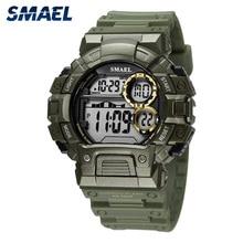 SMAEL Men Watch Men sport Watches Men LED Digital Watches Fashion Green Military Watch mans watch ma