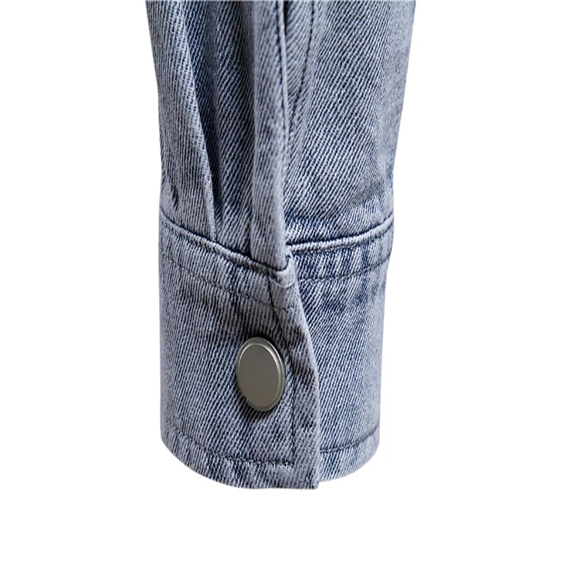 100% Cotton Denim Jackets Men Casual Solid Color Pocket Thin Jacket for Men Style Spring Men Clothing  - buy with discount