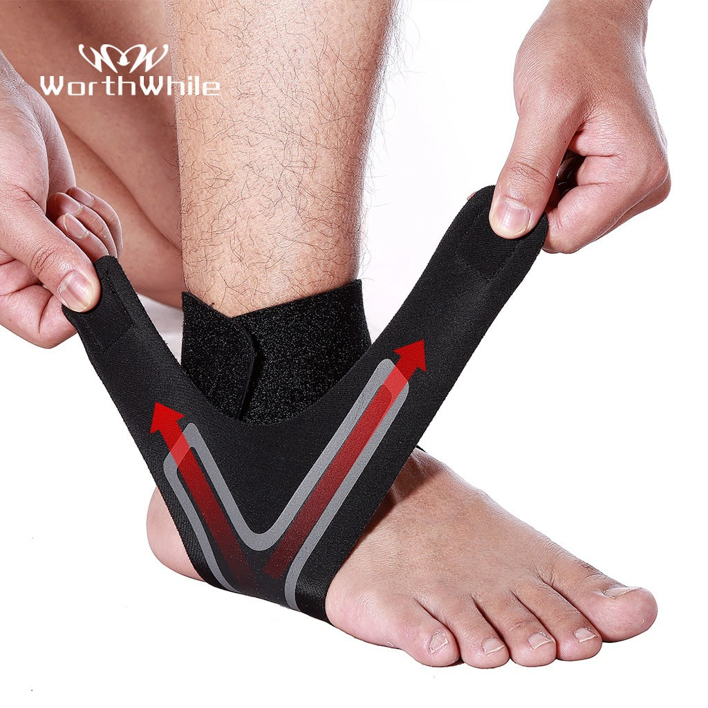 WorthWhile 1 PC Fitness Sports Ankle Brace Gym Elastic Ankle Support Gear Foot Weights Wraps Protect