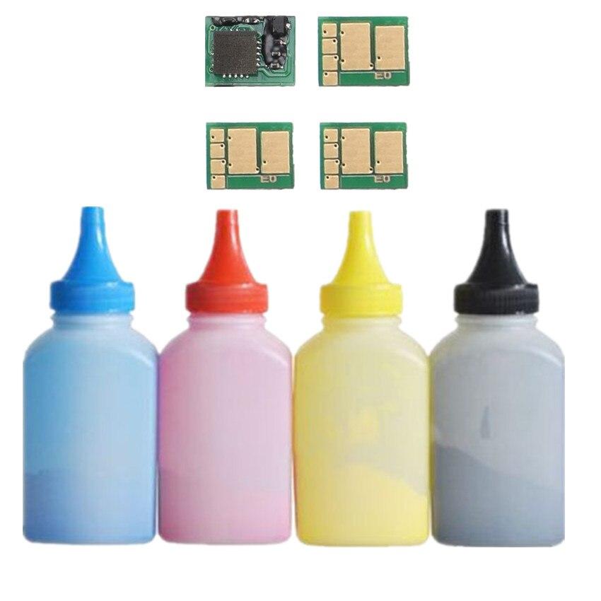 טונר + 4 שבב עבור HP CF500A 202A טונר cartridg צבע LaserJet Pro M254nw 254dw MFP M280nw M281fdw 281fdn מדפסת