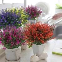 Fleurs artificielles de lavande  2 pieces  5 fourchettes en plastique  ravissantes et naturelles  pour mariage  accessoires de decoration de maison