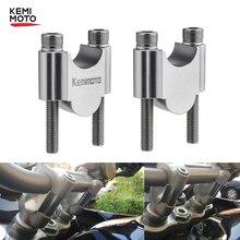 "CNC Motorcycle Manubrio Riser Kit 7/8 ""o 1 1/8"" Universal Bar Morsetti 22/28mm Per BMW r1200gs Per MT09 MT09 Per ATV Z900 Z 900"