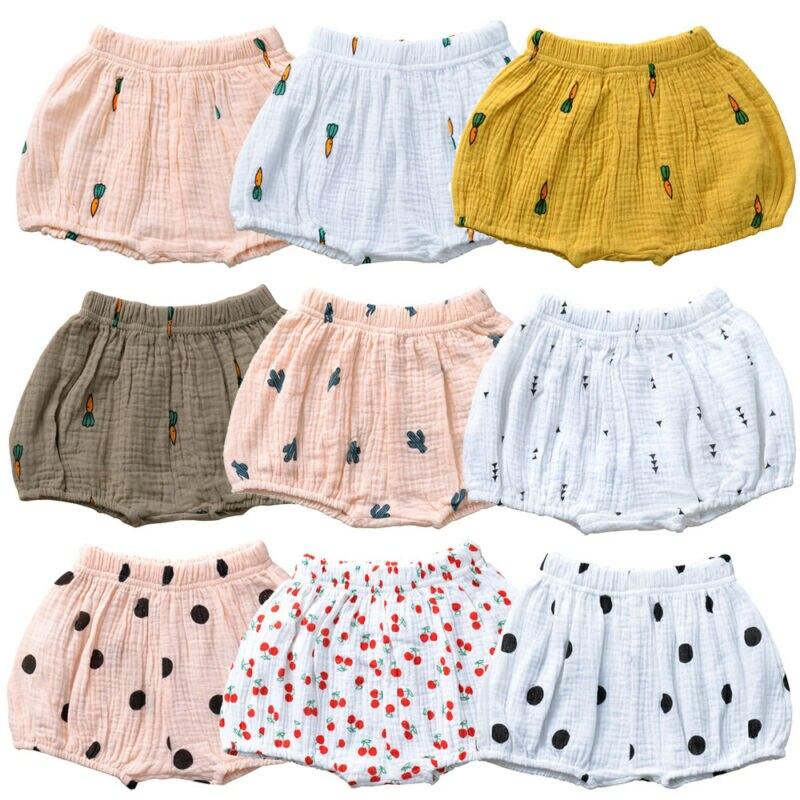 Quente do bebê da menina menino algodão shorts calças fralda cobre bloomers moda respirável macio rendas-up cinto calças quentes