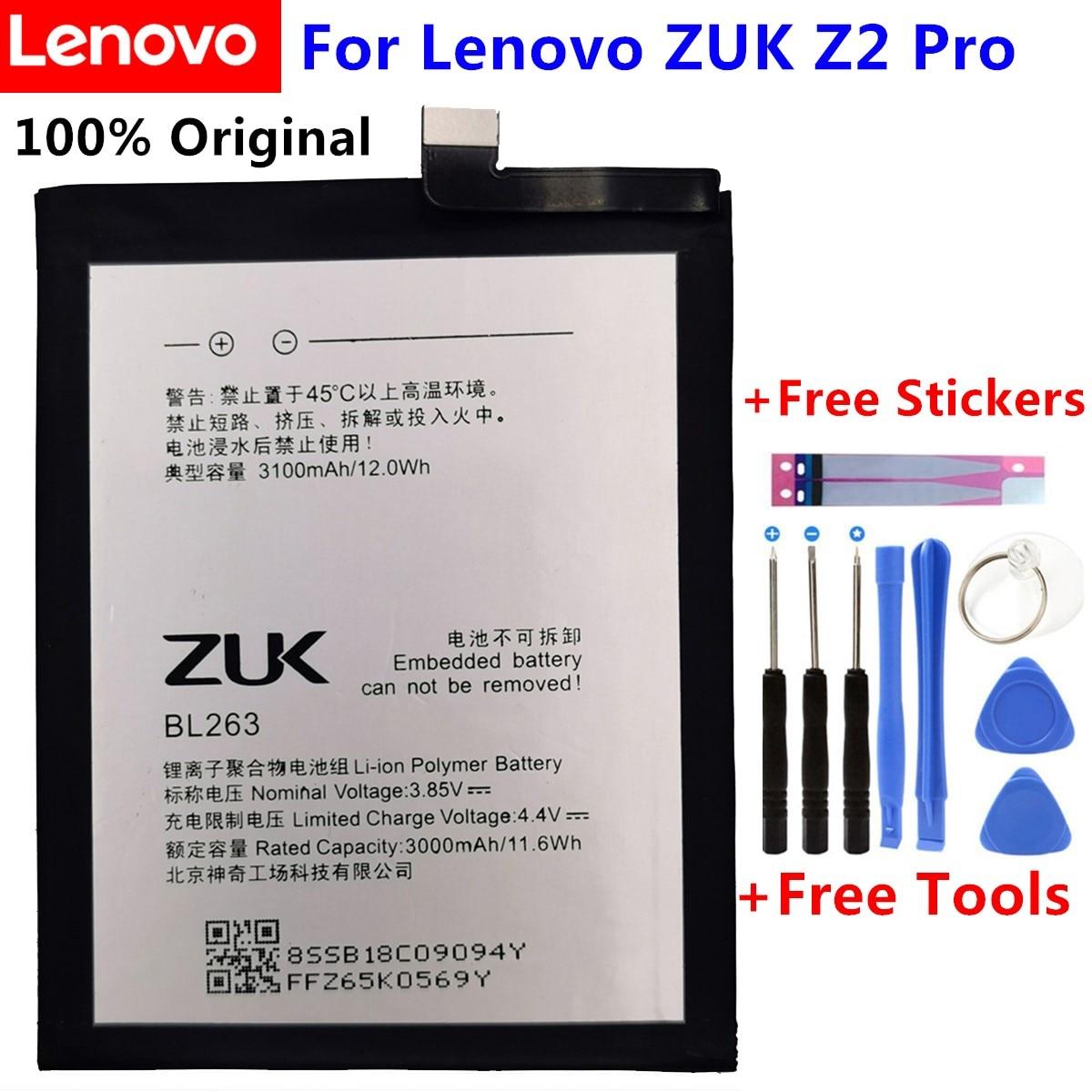 2018 new For Lenovo 3100Mah BL263 Original Battery Replacement for Lenovo ZUK Z2 PRO Z2pro Smart Mobile Phone