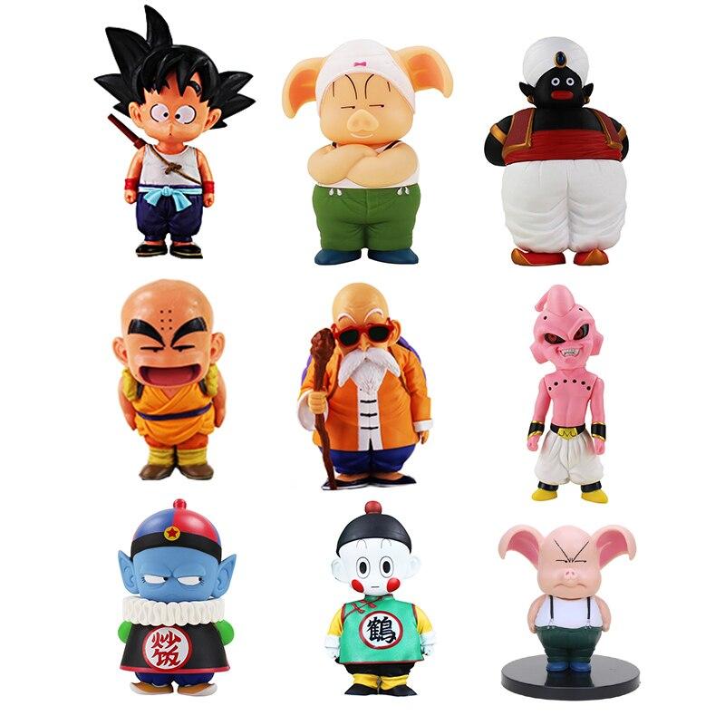 La bola del dragón del Anime Z de PVC figuras de acción de juguete Son Goku Oolong Chiaotzu Pilaf de la infancia de Krillin modelo de recogida para los niños regalos