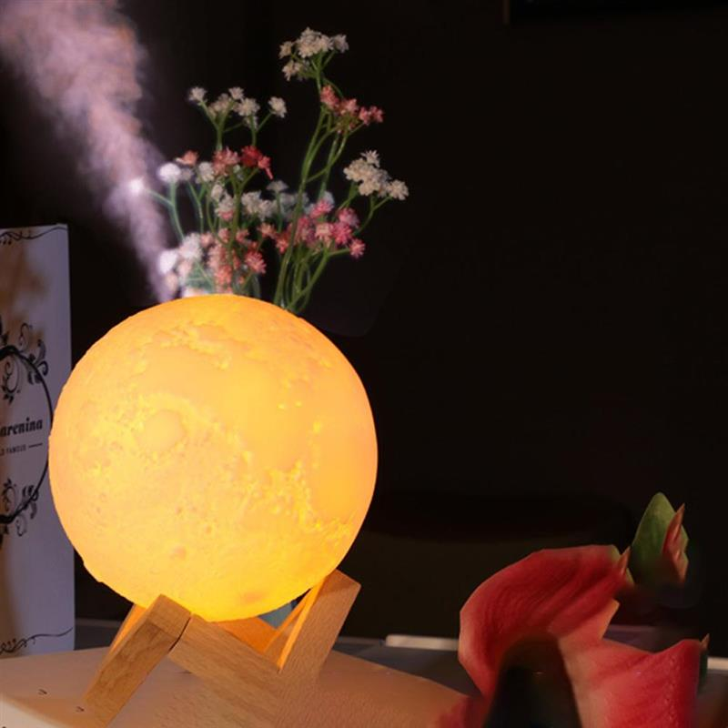 3D Led Night Light Air Humidifier Moon Lamp Aroma Essential Oil Diffuser Ultrasonic Air Humidifier L