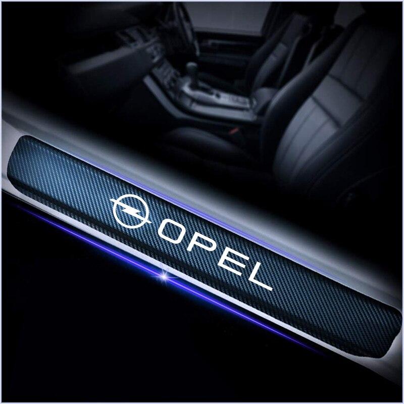 Für Opel Astra H G J Insignia Mokka Zafira Corsa Vectra C D 4 stücke Auto Styling Carbon Faser Anti kratzabrieb Pedal aufkleber