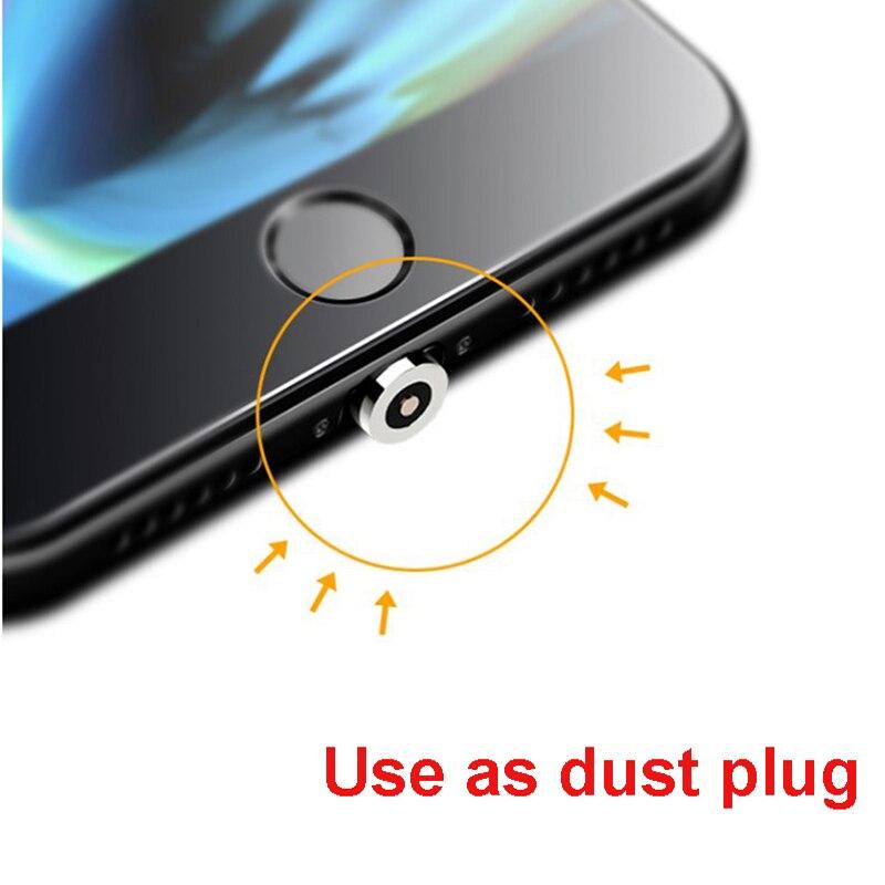Струящийся свет магнитной Зарядки мобильный телефон кабель для передачи данных для iphone кабель зарядного устройства для Samsung светодиодный кабель с разъемом Micro USB Type-C-3