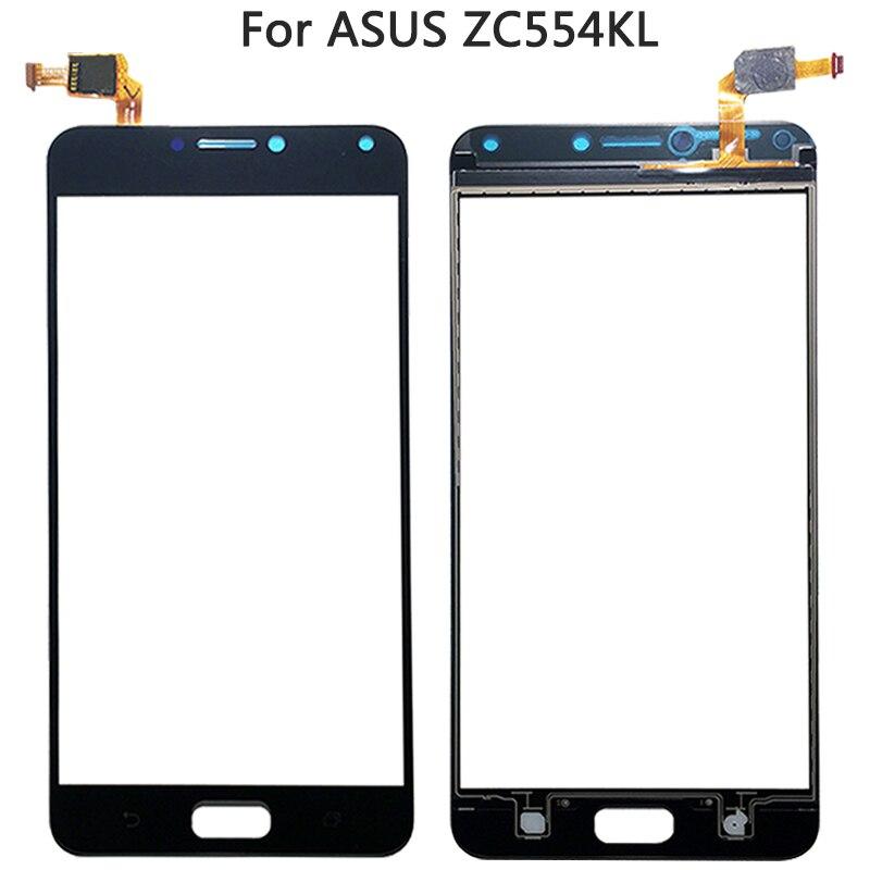Panel de cristal exterior frontal LCD con Sensor táctil para Asus Zenfone 4 Max ZC554KL Panel digitalizador de pantalla táctil