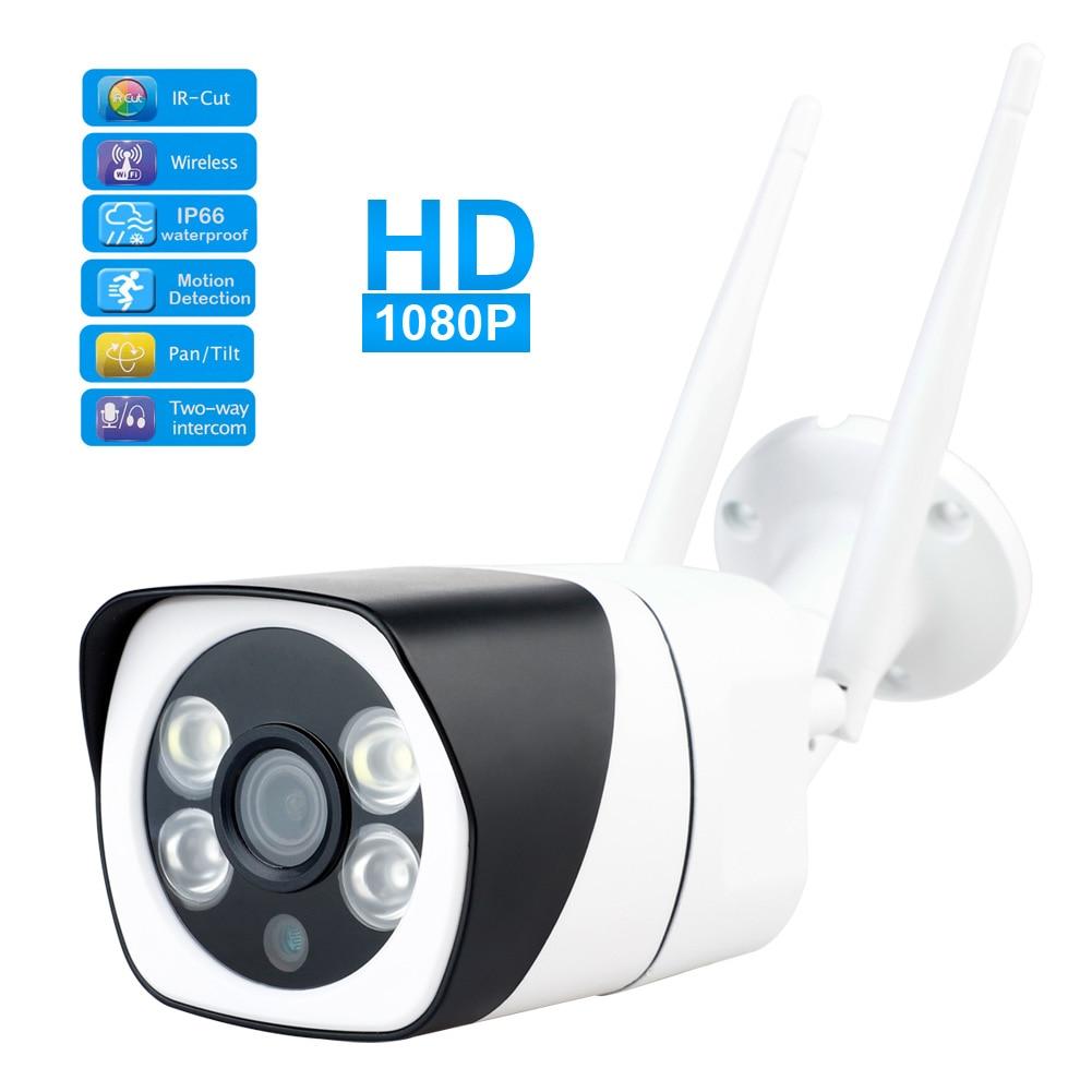 Cámara de seguridad inalámbrica 1080p Monitor inteligente para bebé cámara CCTV IP WIFI Monitor de visión nocturna impermeable al aire libre sin adaptador