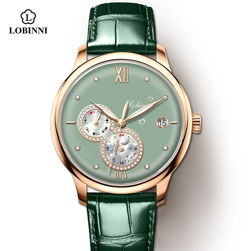 Lobinni 2021 Luxury Women Watches Top Brand  Automatic Mechanical Watch Waterproof Ladies Bracelet Wristwatch Female Clock