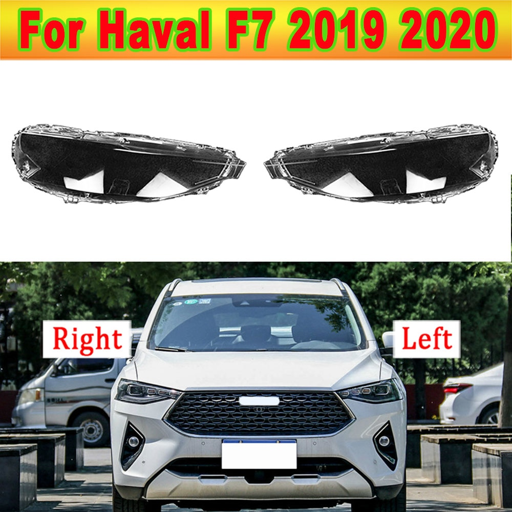 For Haval F7 2019 2020 Lens Front Headlights Headlamp Glass Mask Lamp Cover Transparent Shell Lamp Masks Transparent Shell