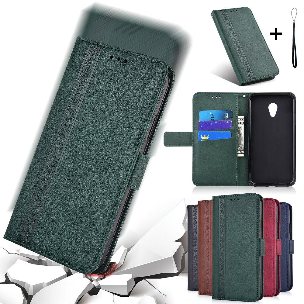 Book Flip Case Soft Cover for Meizu 18 17 16s V8 Pro X8 15 M8 Lite 16th Plus 16Xs A5 M5c M5s M6s M6T