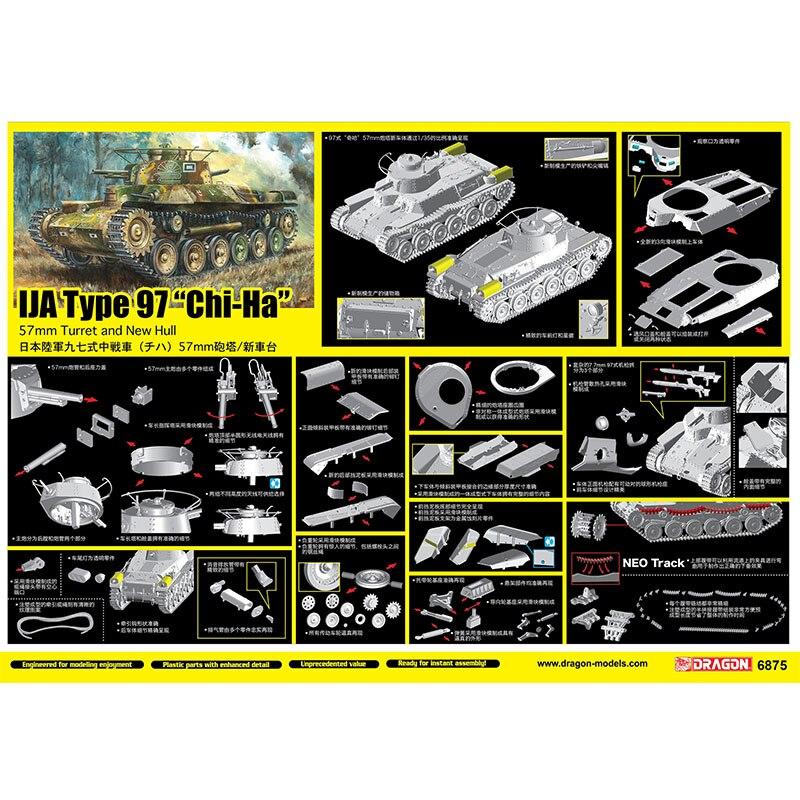 "W/Neo pista [escala modelo Kit dragón 6875 135 IJA tipo 97 ""Chi Ha"""