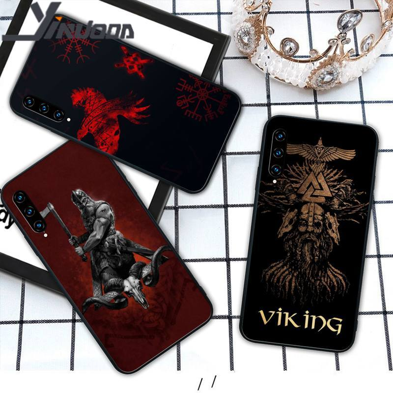Yinuoda vikings tpu caso preto coque para huawei honor 7a 8s 8x 9x 9 10 20s 20 lite v 30 pro capa de jogo