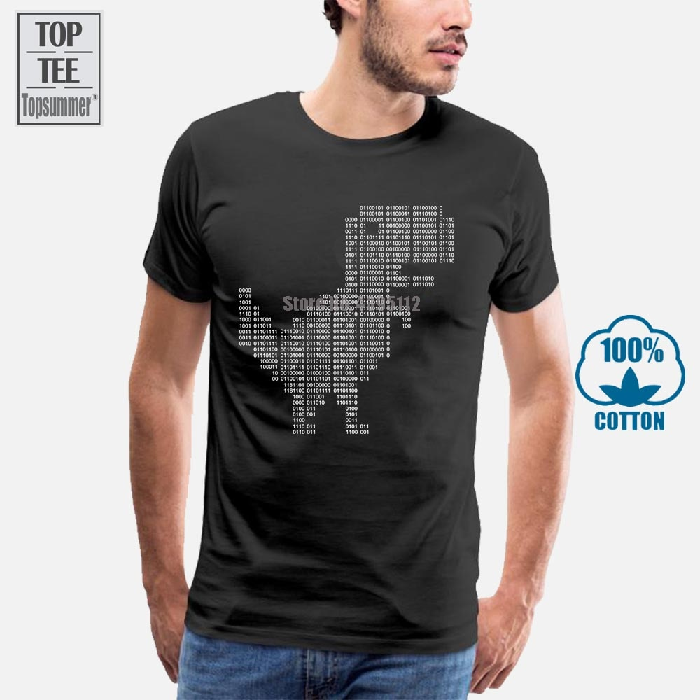 Google Dinosaur 404 dinosaurio binario Dino camiseta hombres personalizado 100% algodón s-xxxl masculino antiarrugas nuevo estilo primavera camiseta