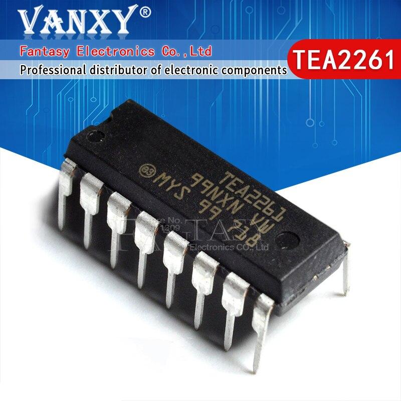 5 uds., TEA2261 DIP16 2261 DIP-16 DIP, chip de transmisión de potencia, marca