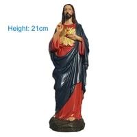 jesus christ tabletop statue figurine resin home decor madonna blessed saint virgin mary statue figure