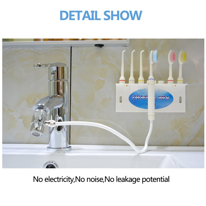 Faucet Water Dental Flosser Oral Irrigator Jet Interdental Toothbrush Cleaning SPA Cleaner Whitening Brush Tooth DS2000 New 2020 enlarge