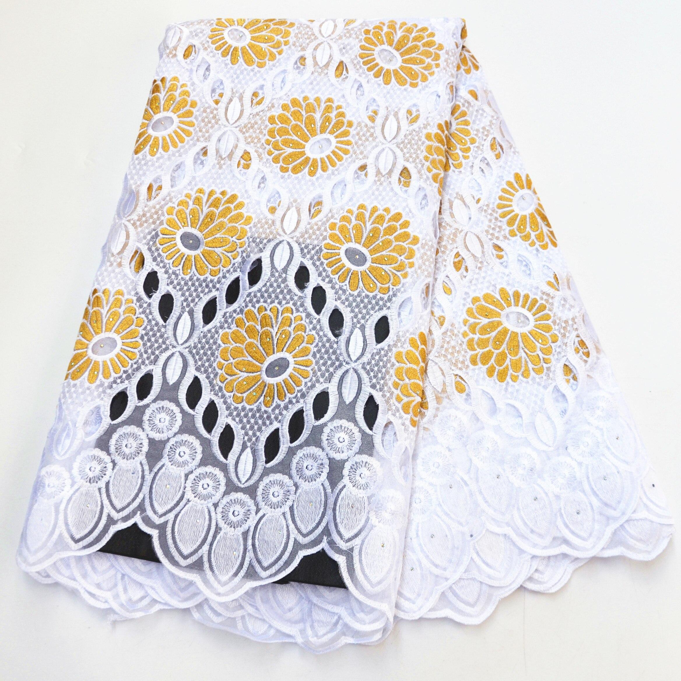 Tela africana de encaje 2020 gran oferta de alta calidad encaje nigeriano con Voile suizo en Suiza para vestido de fiesta barato precio al por mayor