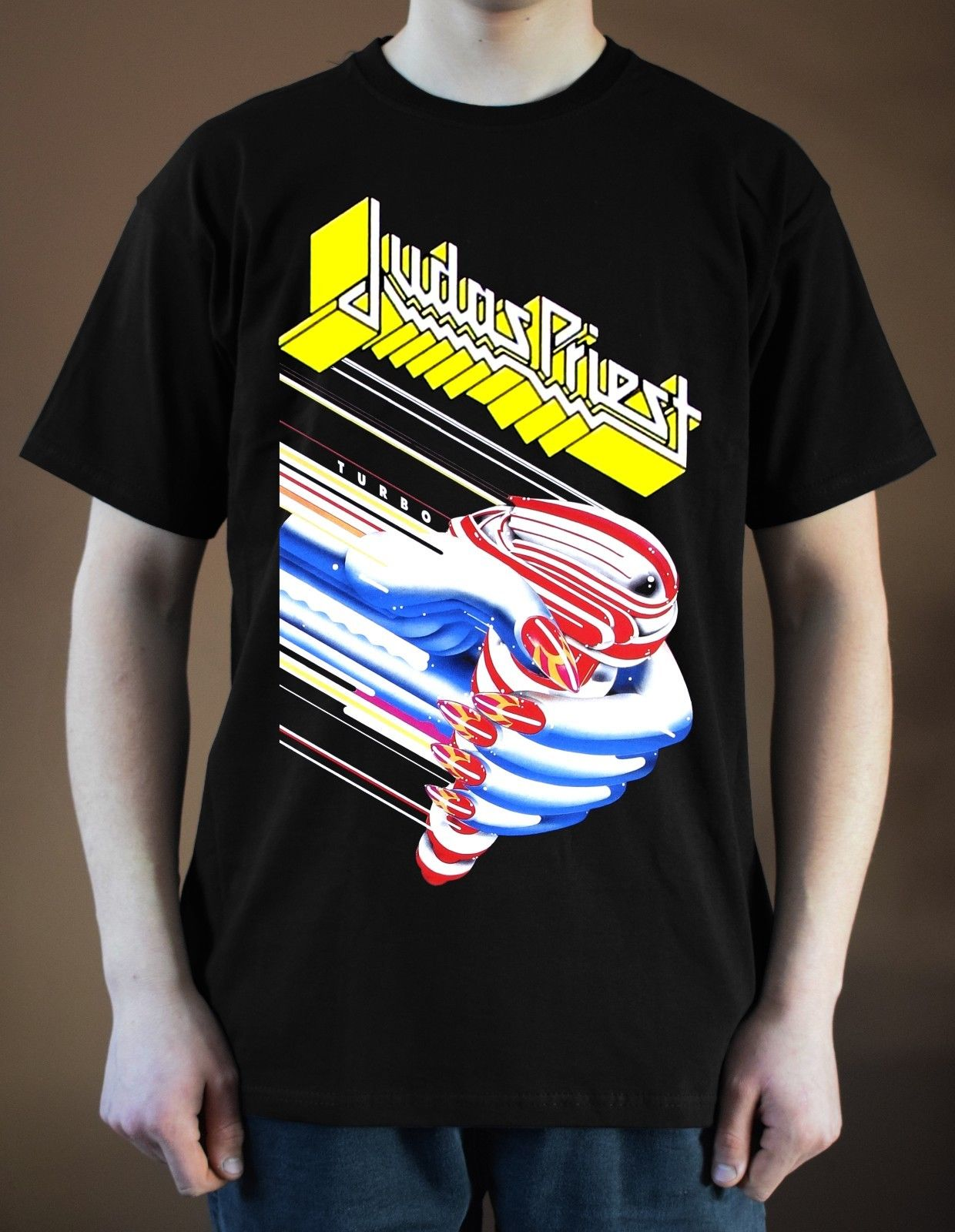 ¡JUDAS sacerdote Turbo Ver! 1 camiseta Heavy Metal Hard Rock Ian Hill (negro) mangas S-3XL Camiseta de algodón camiseta Top de moda