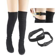 2 pezzi nuovi stivali cinturino da cintura scarpe di fissaggio da donna accessori anticaduta elastico regolabile interno nastro adesivo antiscivolo cavo elastico