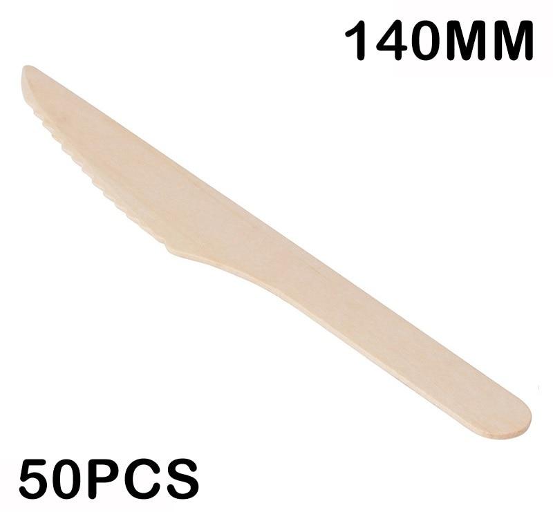 Promoción-suministros de boda para fiestas vajilla desechable de 140mm agitador de té y café de madera/postre/pastel Mini cuchillo, 50/paquete