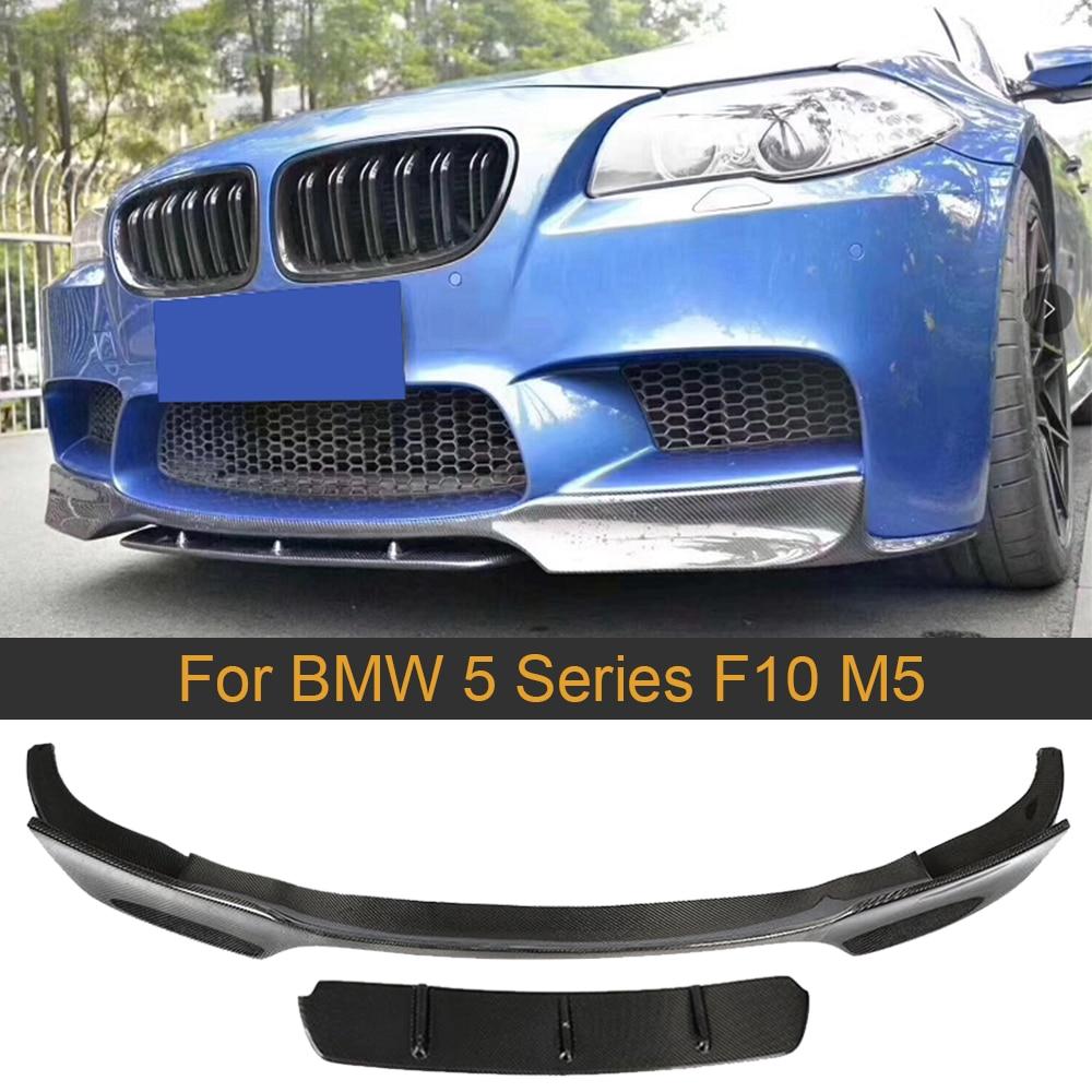 Para F10 M5 parachoques delantero Spoiler Splitter para BMW 5 Series F10 M5 2012-2016 delantal de labio de Spoiler delantero de coche