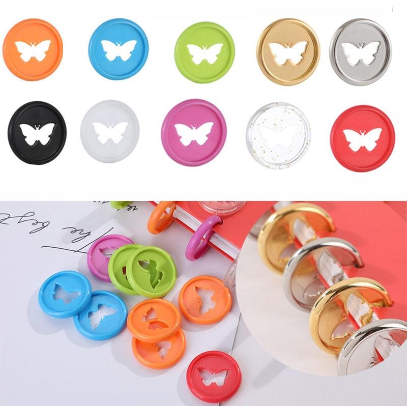 24PCS Colorful Butterfly Disc Binding Mushroom Hole Binding Disc Plastic DIY 360 Degree Buckle Binder Binding Office Supplies