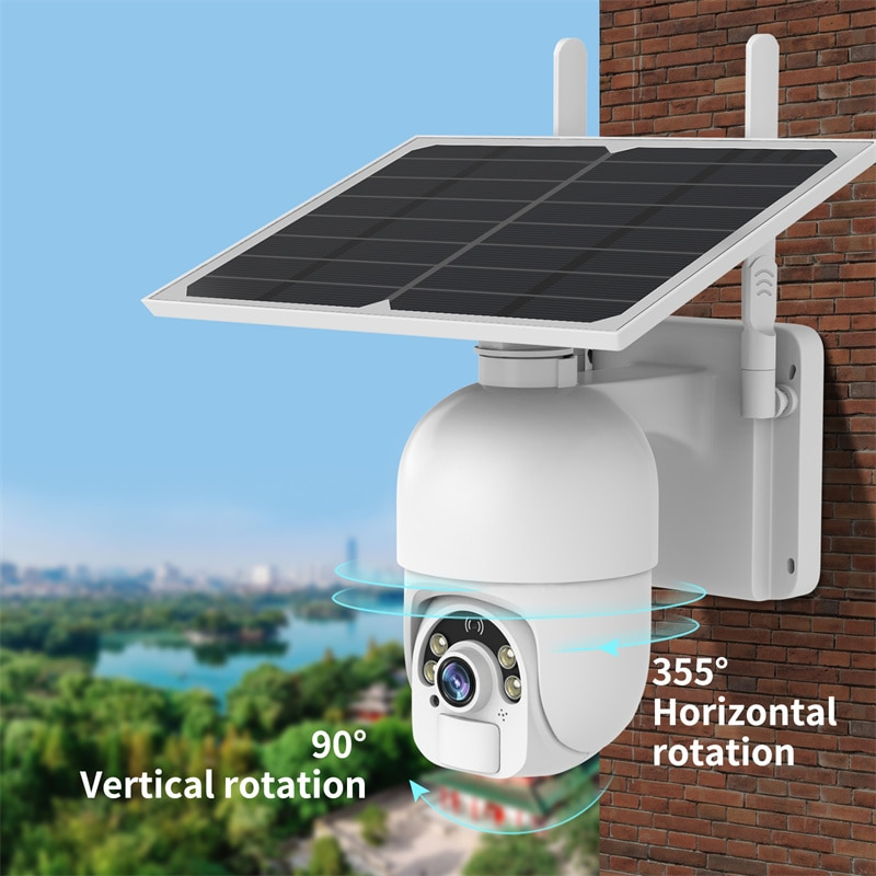 Review SDETER Solar Panel Video Surveillance Camera With Wifi Security Camera With 18650 Battery Outdoor Waterproof Monitoring CCTV