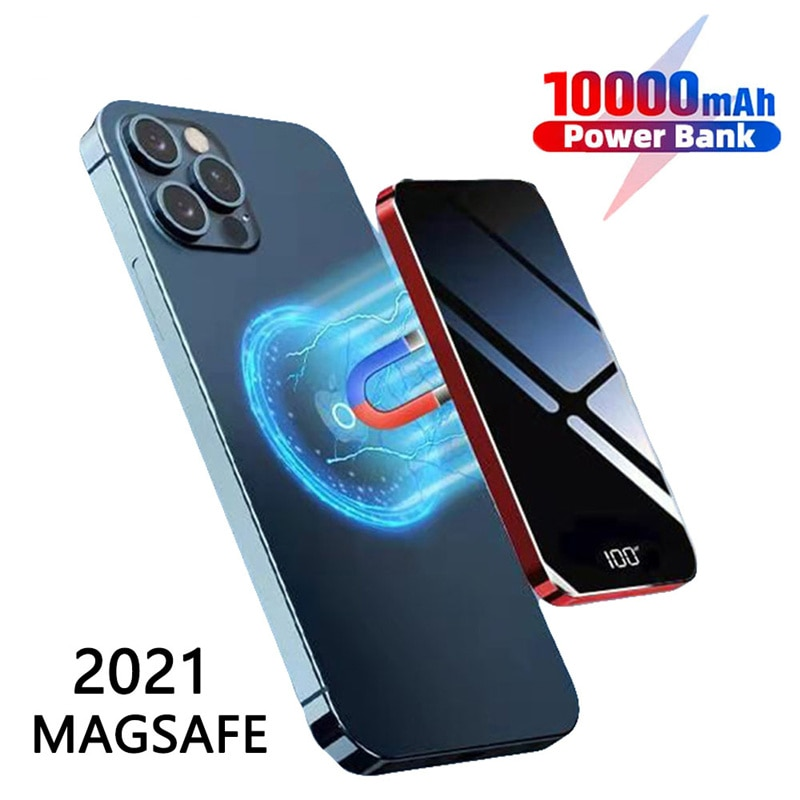 For Magsafe Power Bank Magnetic Wireless Charger 10000mAh External Battery For iPhone 12 Magsafing Chargers Portable PowerBank