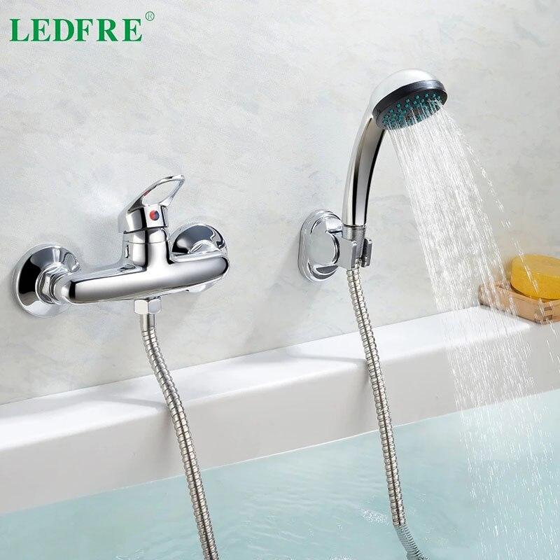 LEDFRE مستوى واحد حمام خلاط مياه الحنفية الحمام مقبض واحد المياه الباردة والساخنة الباردة خلاط صنبور حوض الاستحمام الحنفيات LF56C130