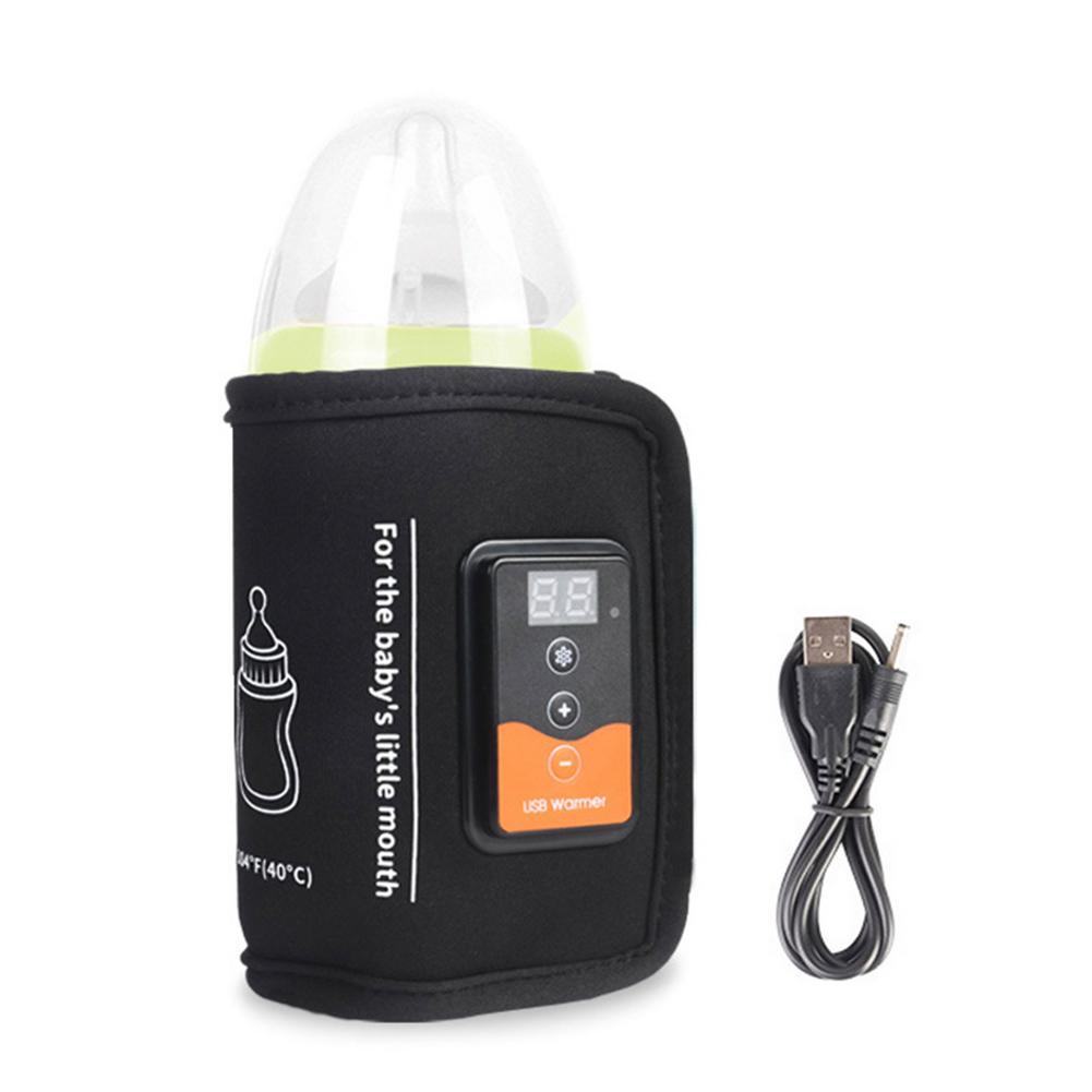 USB Milk Water Warmer Bottle Heating Keeper Outdoors Travel Safe Portable Stroller Bottle Heater For Baby Care