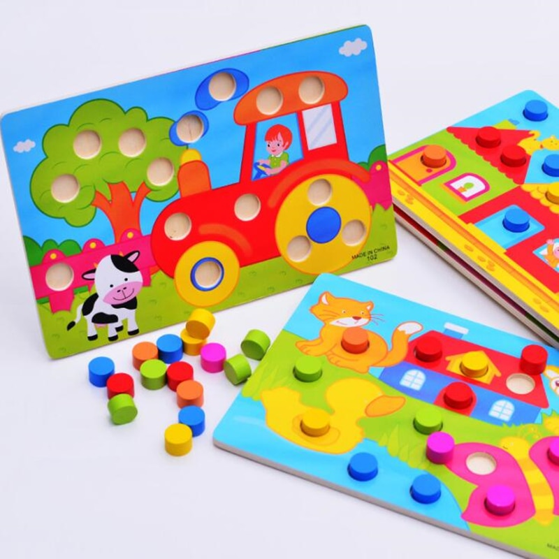 colorful cognition board kids montessori educational toy children wooden jigsaw color match game board puzzles child wooden toy Color Cognition Board Montessori Educational Toys For Children Wooden Toy Jigsaw Kids Early Learning Color Match Game
